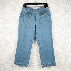 Early 00s Hilfiger cropped straight-leg jeans sz 8